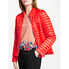 Buy Marc Cain Down Quilted Puffer Jacket, Flame Online at johnlewis.com