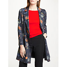 Buy Marc Cain Floral 3/4 Length Coat, Space Blue Online at johnlewis.com