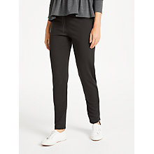 Buy Max Studio Drawstring Ponte Trousers, Black Online at johnlewis.com