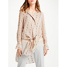 Buy Modern Rarity Silk Clipped Jacquard Blouse, Blush Online at johnlewis.com
