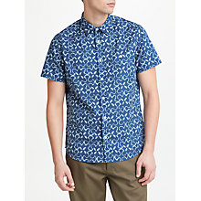 Buy JOHN LEWIS & Co. Short Sleeve Dye Pattern Shirt, Blue Online at johnlewis.com