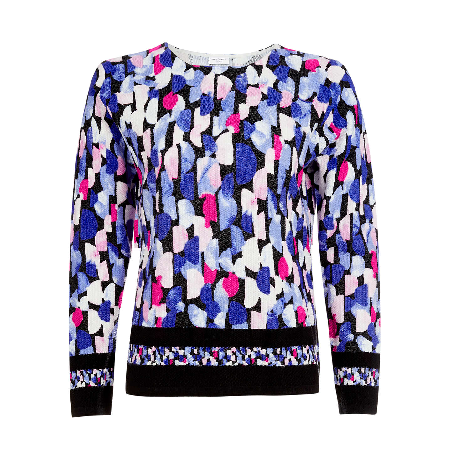 BuyGerry Weber Long Sleeve Printed Jumper, Multi, 12 Online at johnlewis.com