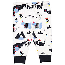 Buy Polarn O. Pyret Baby Bear Print Trousers, Blue Online at johnlewis.com