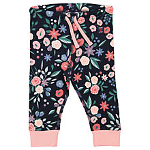 Buy Polarn O. Pyret Baby Cotton Floral Trousers, Blue Online at johnlewis.com