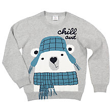 Buy Polarn O. Pyret Children's Polar Bear Jumper, Grey Online at johnlewis.com