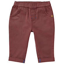 Buy John Lewis Baby Organic Cotton Twill Trousers, Maroon Online at johnlewis.com