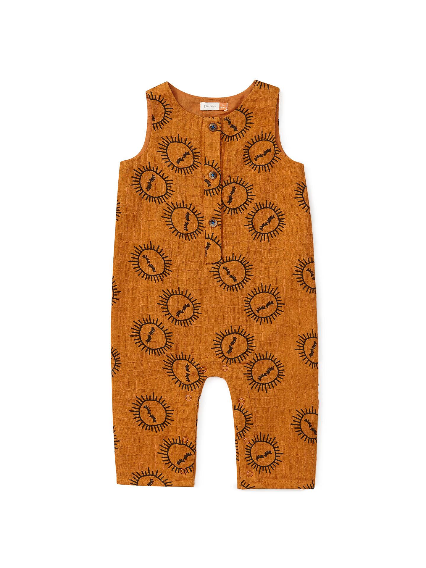 3db51f0b0 John Lewis   Partners Baby Organic Cotton Sun Print Romper