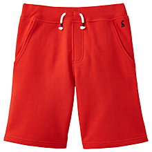 Buy Little Joule Boys' Devlin Pique Drawstring Shorts, Red Online at johnlewis.com
