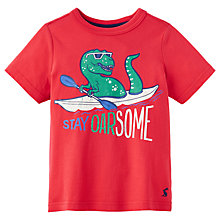 Buy Little Joule Boys' Ben Dinosaur T-Shirt, Red Online at johnlewis.com