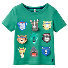 Buy Little Joule Boys' Chomp Animal T-Shirt, Green Online at johnlewis.com