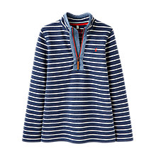 Buy Little Joule Boys' Dale Saltwash Half-Zip Stripe Sweatshirt, Navy Online at johnlewis.com