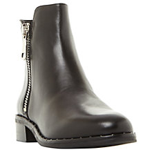Buy Steve Madden Lanna Ankle Boots, Black Leather Online at johnlewis.com