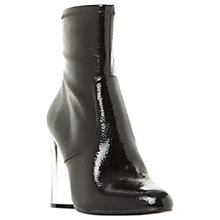 Buy Steve Madden Eminent Block Heeled Ankle Boots, Black Online at johnlewis.com