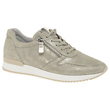 Buy Gabor Blundell Lace Up Trainers, Antique Rose Leather Online at johnlewis.com