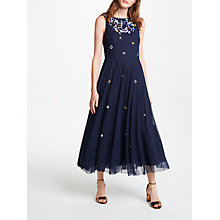Buy Bruce by Bruce Oldfield Embellished Dress, Navy Online at johnlewis.com