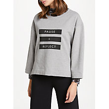 Buy PATTERNITY + John Lewis Pause + Reflect Sweatshirt, Grey Melange Online at johnlewis.com