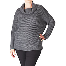 Buy ADIA Cowl Neck Cable Knitted Wool Blend Jumper, Dark Grey Online at johnlewis.com