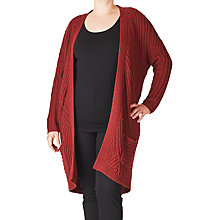 Buy ADIA Cable Knitted Cardigan, Merlot Melange Online at johnlewis.com