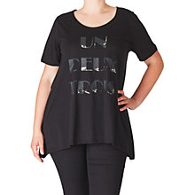 Buy ADIA Front Print Slogan Blouse, Black Online at johnlewis.com