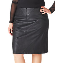 Buy ADIA Leather Look Skirt, Black Online at johnlewis.com