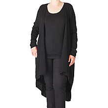 Buy ADIA Longline Cardigan, Black Online at johnlewis.com