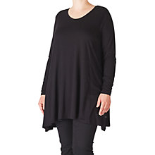 Buy ADIA Round Neck Tunic Top, Black Online at johnlewis.com