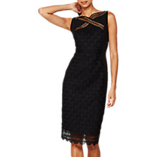 Buy Mint Velvet Deco Lace Dress, Black Online at johnlewis.com