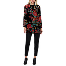 Buy East Devore Chatsworth Long Shirt, Black/Multi Online at johnlewis.com