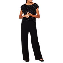 Buy Mint Velvet Crepe Wide Leg Trousers, Black Online at johnlewis.com