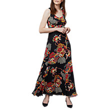 Buy East Shanghai Pleated Maxi Dress, Black/Multi Online at johnlewis.com