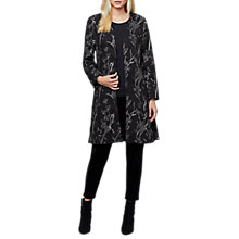 Buy East Fleur Embroidered Coat, Black Online at johnlewis.com