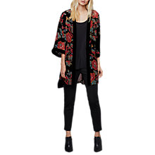 Buy East Devore Chatsworth Kimono, Black/Multi Online at johnlewis.com