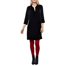 Buy East Velvet Notch Neck Dress, Black Online at johnlewis.com