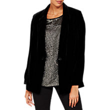 Buy Mint Velvet Velvet Blazer, Black Online at johnlewis.com