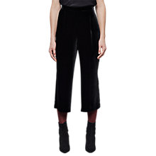 Buy East Silk Blend Velvet Trousers, Black Online at johnlewis.com