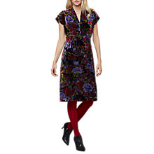 Buy East Meilin Velvet Floral Print Dress, Multi Online at johnlewis.com