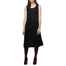 Buy East Yokahama Embroidered Dress, Black Online at johnlewis.com