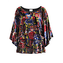 Buy East Meilin Velvet Kimono Top, Multi Online at johnlewis.com
