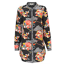 Buy East Shanghai Silk Print Shirt, Black/Multi Online at johnlewis.com