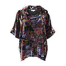 Buy East Meilin Cowl Neck Velvet Top, Multi Online at johnlewis.com