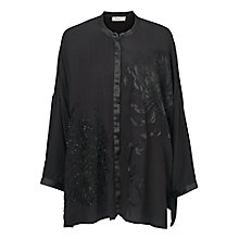 Buy East Yokahama Embroidered Blouse, Black Online at johnlewis.com