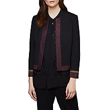 Buy East Ponte Trim Detail Jacket, Black Online at johnlewis.com