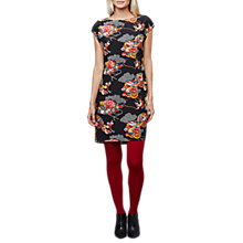 Buy East Shanghai Silk Print Dress, Black/Multi Online at johnlewis.com