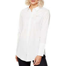 Buy Mint Velvet Daydreamer Longline Shirt, Ivory Online at johnlewis.com