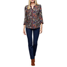 Buy East Silvia Print Shirt, Grape Online at johnlewis.com