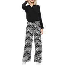 Buy Mint Velvet Emilie Print Wide Leg Trousers, Multi Online at johnlewis.com