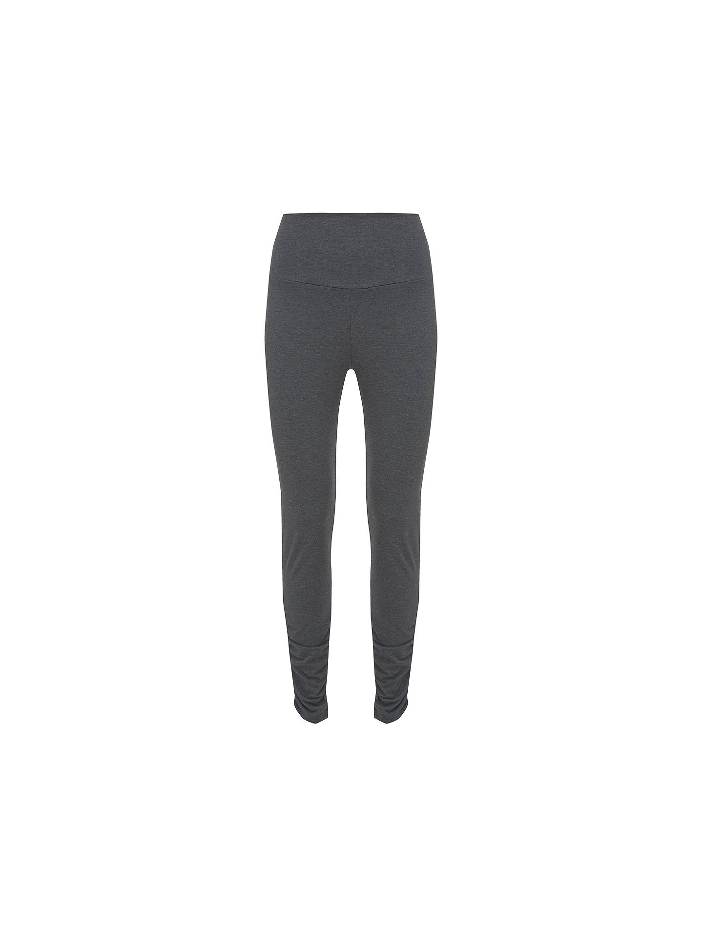 BuyMint Velvet Ankle Zip Leggings, Charcoal, XS Online at johnlewis.com
