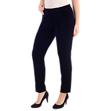 Buy Chesca Stretch Velvet Trousers, Midnight Online at johnlewis.com