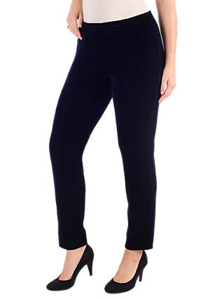 Chesca Stretch Velvet Trousers, Midnight