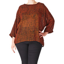 Buy ADIA Slit Back Printed Blouse, Orange Rust Online at johnlewis.com